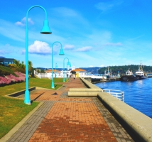 三月的 Nanaimo waterfront